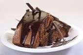 cake with chocolate
