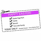 Happy Easter Coupon Concept