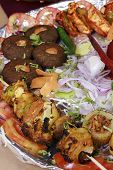 Kebab Platter Is A Mixture Of North Indian Non Vegetarian Kebab Served To Gather With Onions.