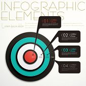 Abstract Target Infographics