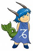 image of chibi  - Cartoon style illustration of zodiac symbol - JPG