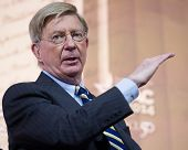 NATIONAL HARBOR, MD - MARCH 6, 2014: Columnist George Will speaks at the Conservative Political Acti