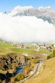 Alps landscape near Andermatt, canton Graubunden, Switzerland
