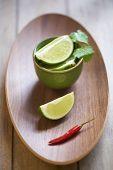 Fresh lime and chili pepper
