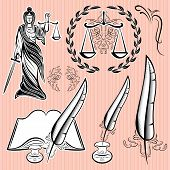 Set Of Design Elements For Law
