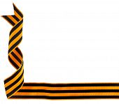 black orange strip ribbon tape, St. George isolated on white background