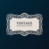 Label vector framework. Vintage banner decor ornament