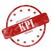 Red Weathered Kpi Stamp Circle And Stars