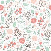 beauty seamless floral pattern