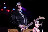HUNTINGTON, NY-AUG 26: Lead guitarist Rick Nielsen of Cheap Trick performs in concert at the Paramou