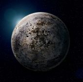 iron planet (photoshop collge from metal texture)