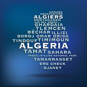 Algeria map made with name of cities - vector illustration