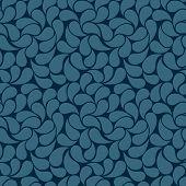 Blue Petals Seamless Background