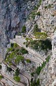The Via Krupp In Capri Island, Italy