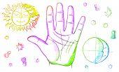 image of palmistry  - palmistry - JPG