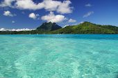 View Of Bora Bora Island in French Polynesia