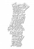 word cloud map of Portugal
