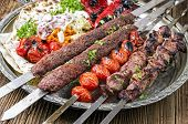 foto of kababs  - grilled koobideh with kebab - JPG