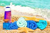 Wellness Products On Sand