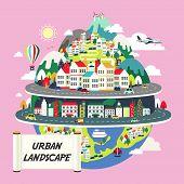 Flat Design For The Urban Landscape