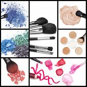 picture of  lips  - Collection of makeup cosmetics - JPG