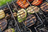 Vegetables Char-grilled Over Flame