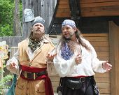 MUSKOGEE, OK - MAY 24: Pirates perform at the Oklahoma 19th annual Renaissance Festival on May 24, 2014 at the Castle of Muskogee in Muskogee, OK.