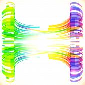 Rainbow colors abstract lines vector background