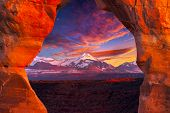 La Sal Mountains, Seen Through Delicate Arch