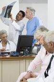 Crowded doctor's surgery
