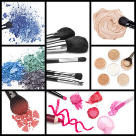 image of foundation  - Collection of makeup cosmetics - JPG