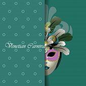 greeting card design. venetian mask