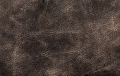 Brown Leather Texture Background Surface Closeup For Your Design, Ad, Poster,  Cover.