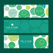 Vector abstract green circles horizontal banners set pattern background
