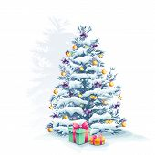 Image of a Christmas tree with gifts
