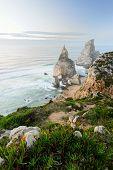 Amazing seaboard of Portugal, Sintra, Cabo da Roca, Praia da Ursa