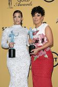 LOS ANGELES - JAN 25:  Dascha Polanco, Selenis Leyva at the 2015 Screen Actor Guild Awards at the Shrine Auditorium on January 25, 2015 in Los Angeles, CA