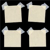 Set of various beige note papers