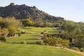 Fairway on Scottsdale desert golf course, Arizona,USA.