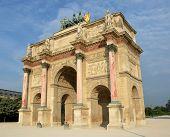 The Arc De Triomphe Du Carrousel Built In 1806 For Napoleon.