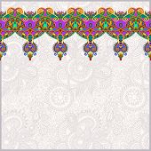 ornamental background with flower ribbon
