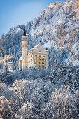 Neuschwanstein Neuschwanstein Castle in wintery landscape, Germany