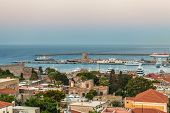 Panoramic View Of Rhodes Island, Greece