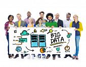 Diversity People Big Data Database Share Teamwork Concept