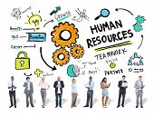 Human Resources Employment Job Teamwork Business Technology Concept