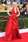 LOS ANGELES - JAN 25:  Gwendoline Christie at the 2015 Screen Actor Guild Awards at the Shrine Auditorium on January 25, 2015 in Los Angeles, CA