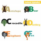Animal alphabet. set 1
