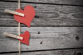 Two Vintage Hearts