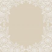 Flower vector ornament frame. Vector illustration.