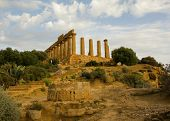 Ruined greek temple in Agrigento